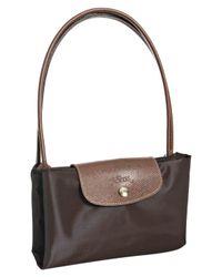 Longchamp - Black Chocolate Nylon 'Le Pliage' Large Folding Shopper Tote - Lyst