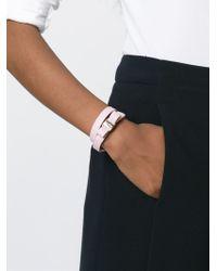 Ferragamo - Pink 'vara' Bow Bracelet - Lyst