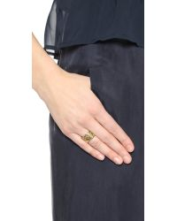 House of Harlow 1960 | Metallic Shakti Stack Ring Set - Gold Multi | Lyst