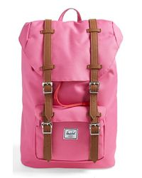 Herschel Supply Co. | Pink 'little America- Mid Volume' Backpack | Lyst