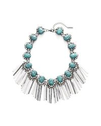 BaubleBar | Metallic 'Showgirl' Fringe Necklace - Antique Silver | Lyst