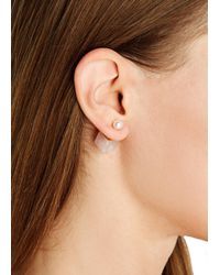 Vita Fede - Pink Cubo Rose Quartz Earrings - Lyst