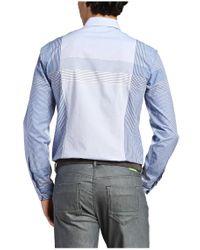 BOSS Green | Blue 'bariko' | Regular Fit, Cotton Plaid Button Down Shirt for Men | Lyst