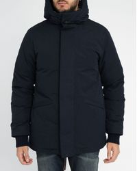 Homecore | Blue Navy Shadow Sherpa/feather Lining Cotton Parka for Men | Lyst