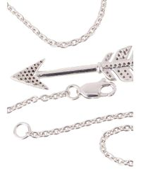 Jade Jagger - Metallic Diamond Embellished Sterling Silver Arrow Necklace - Lyst