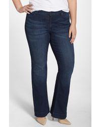 CJ by Cookie Johnson Blue 'worthy' Stretch Flare Leg Jeans