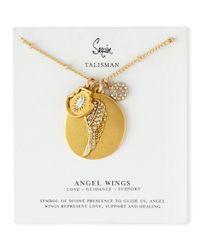 Sequin | Metallic Three-pendant Talisman Necklace | Lyst