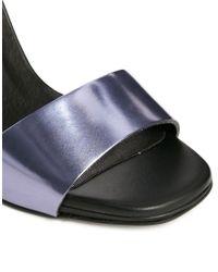 Miista Blue Lily Black/Lavender Heeled Sandals