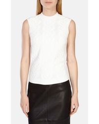Karen Millen | White Cable Knit Top | Lyst