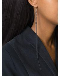 Ann Demeulemeester | Black Long Chain Drop Earrings | Lyst