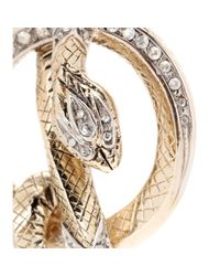 Roberto Cavalli | Metallic Crystal-embellished Clip-on Earrings | Lyst