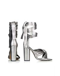 TOPSHOP - Metallic Rosa Knot High Sandals - Lyst