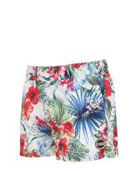 Colmar Multicolor Printed Nylon Swimming Shorts for men
