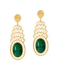 Alexandra Alberta - Green Khrysler Earrings - Lyst