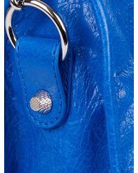 Balenciaga Blue Giant 12 City Leather Tote