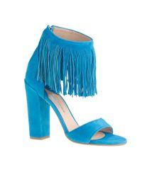 J.Crew - Blue Paul Andrew Fringe High-heel Sandals - Lyst