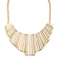 Forever 21 | Metallic Cutout Bib Statement Necklace | Lyst