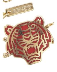 KENZO | Metallic Gold Plated Tiger Bracelet | Lyst