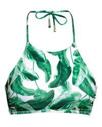 H&M Green Bikini Top