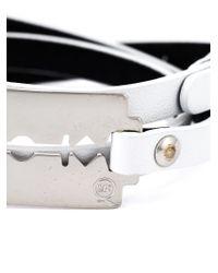 McQ | White Razor Blade Triple Wrap Bracelet | Lyst