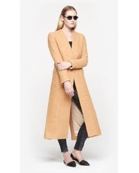 Wayne - Natural Brushed Wool Blade Coat - Lyst