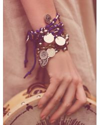 Free People - Purple Born Free Wrap Bracelet - Lyst