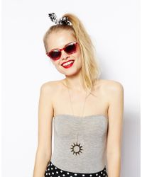 ASOS - Red Pointy Cat Eye Sunglasses - Lyst