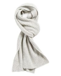 Vince Gray Ribbed & Marled Cashmere Scarf for men