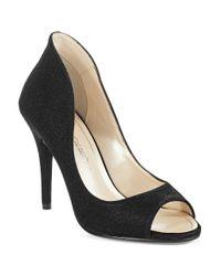 Caparros | Black Newport Peep Toe Heels | Lyst