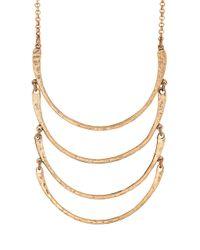 Lucky Brand | Metallic Half-Moon Bib Necklace | Lyst