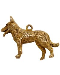 Annina Vogel | Metallic Vintage Gold Longhaired Dog Charm | Lyst