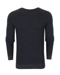 Ted Baker | Gray Reeko Rib Panelled Jumper for Men | Lyst