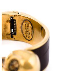 Alexander McQueen | Black Double Skull Bracelet | Lyst