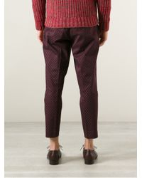Milano Parigi - Purple Cropped Printed Trouser for Men - Lyst
