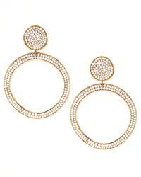 Ippolita - Metallic Stardust Snowman Post Pave Gold Earrings - Lyst