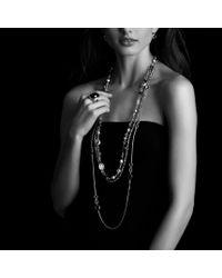 David Yurman | Black Signature Oval Ring With Diamonds | Lyst