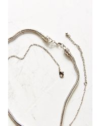 Urban Outfitters - Metallic Elle Choker + Chain Necklace Set - Lyst