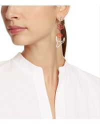 Tory Burch - Multicolor Sylvan Cut-out Long Earring - Lyst