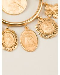 Dolce & Gabbana Metallic Dropped Loop Earrings