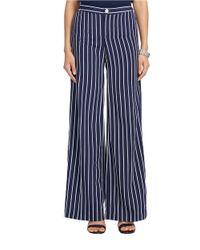 Lauren by Ralph Lauren Blue Striped Wide-leg Pants