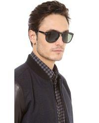fc237a94e6 Persol Classic Folding Polarized Sunglasses in Black for Men - Lyst