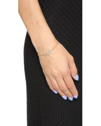 kate spade new york Metallic Xo Bracelet - Clear