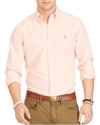 Polo Ralph Lauren - Orange Oxford Classic Fit Button Down Shirt for Men - Lyst