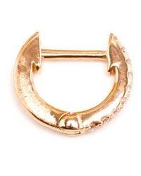 Rosa De La Cruz - Metallic Diamond Hoop Earrings - Lyst