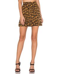Bardot Multicolor Leopard Mini Skirt