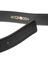 Hydrogen | Black Classic Belt Leather for Men | Lyst