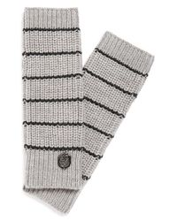 Vince Camuto - Gray Stripe Arm Warmers - Lyst