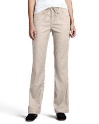 NYDJ - Natural Lindsey Wide-leg Linen Pants - Lyst