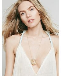 Free People | Metallic Womens Sentiment Necklace | Lyst