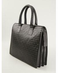 91b59858b8ce Lyst - Bottega Veneta Intrecciato Laptop Bag in Gray for Men